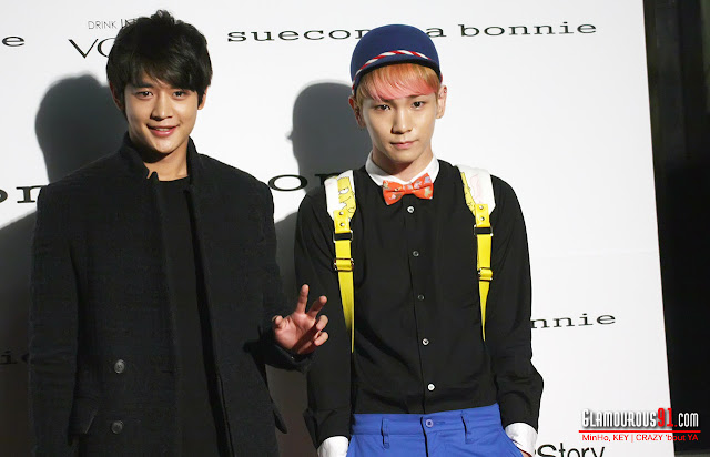 SHINee Key & Minho at Seoul Fashion Week Suecomma Bonnie show 121025.