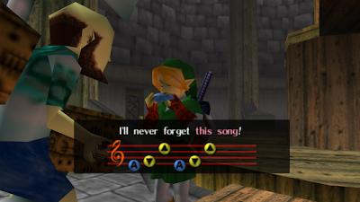 Link tocando la ocarina