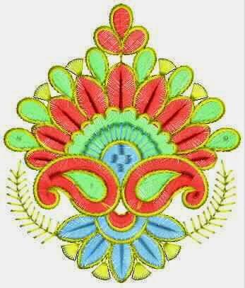 Kleurvolle naaimasjien Applique ontwerp