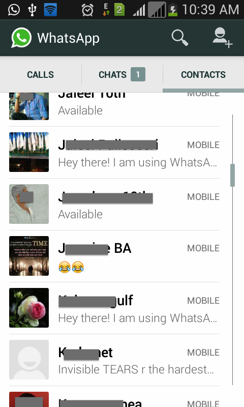 WhatsApp-Contact-List