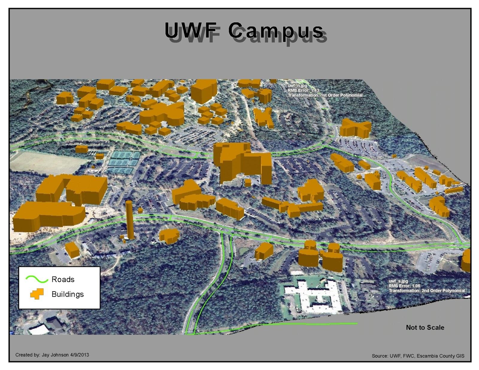 Jay Johnson 39 s UWF GIS Blog Georeferencing Editing ArcScene