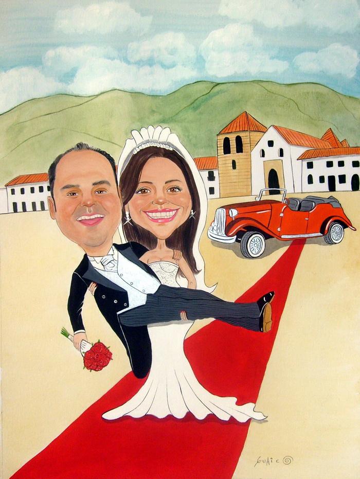 Matrimonio Simbolico Chi Lo Celebra : Matrimonio catolico caricatura capitán caricaturista el