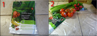 Presidents Choice green Reusable produce bags