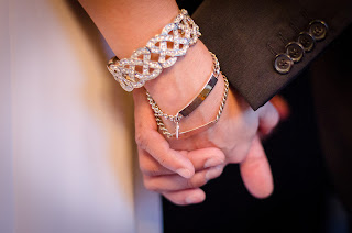 Katie wears bracelets with the names of loved one - Patricia Stimac, Seattle Wedding Officiant