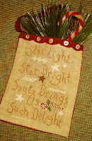 Cinnamon Stick Santa Hanging Pocket