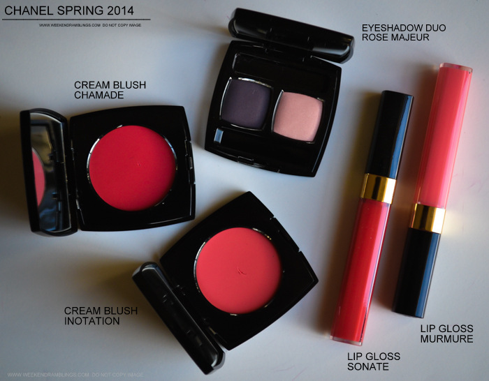 Chanel Spring 2014 Notes de Printemps Makeup Collection Swatches Photos