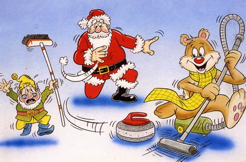 Image result for Xmas curling fun