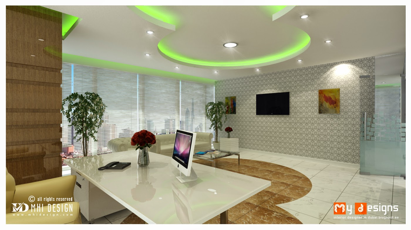 Office interior designs in dubai interior designer in for Office room interior design photos