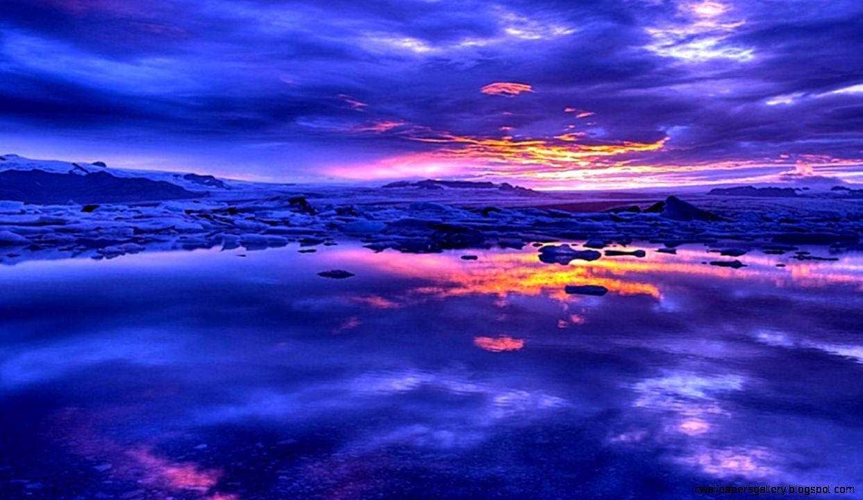 Blue Sky Sunset Wallpaper  All HD Wallpapers