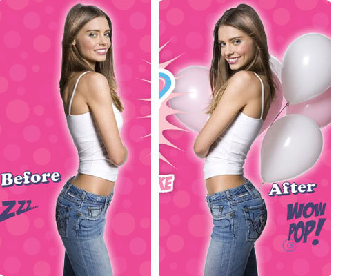 Buttpads before and after