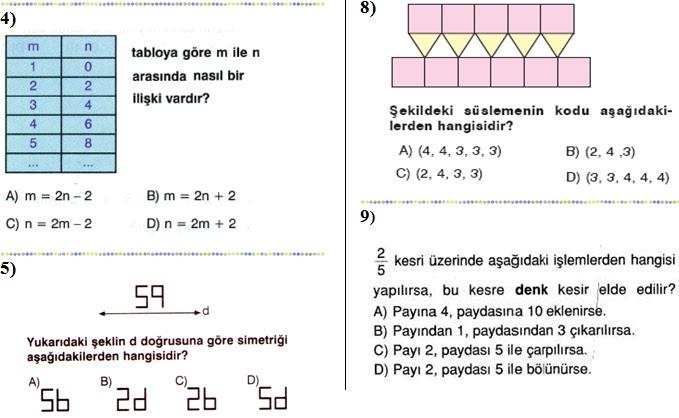 Yazılı 2012 2013 7 sinif matematik 2 dönem 2 yazılı soruları