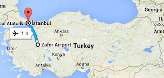 Kütahya-İstanbul Uçuş Mesafesi