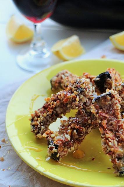 aubergines met honing