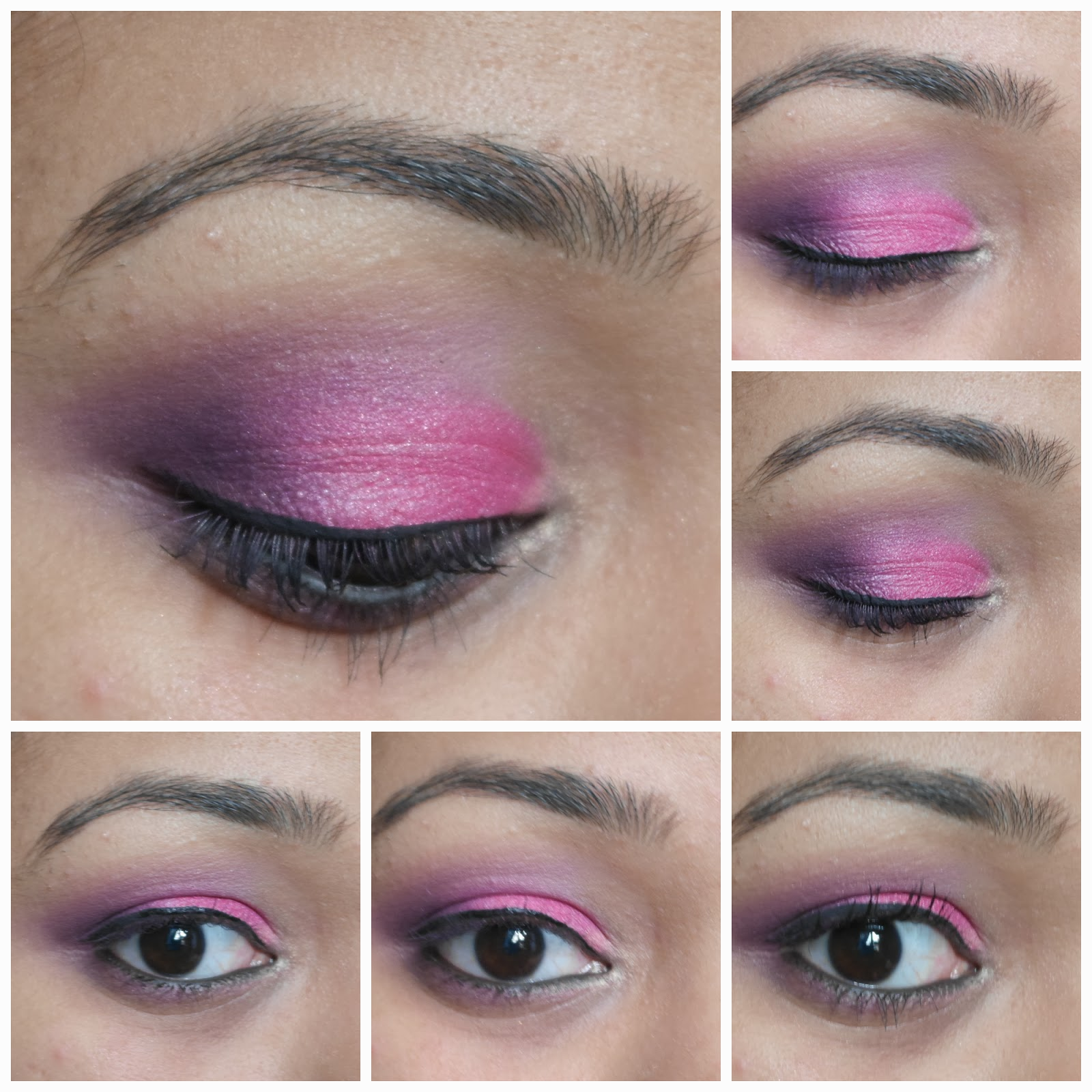 Pink Purple eyemakeup-tutorial-technique