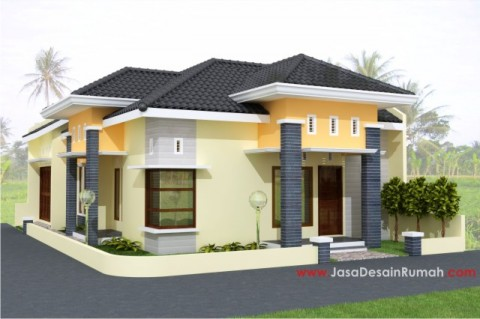 teknik gambar bangunan: arsitektur rumah minimalis