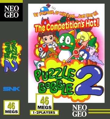 Les Exclu. Neo Geo MVS Puzzle+Bobble+2
