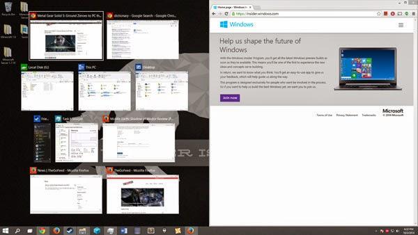 Snaping Windows 10