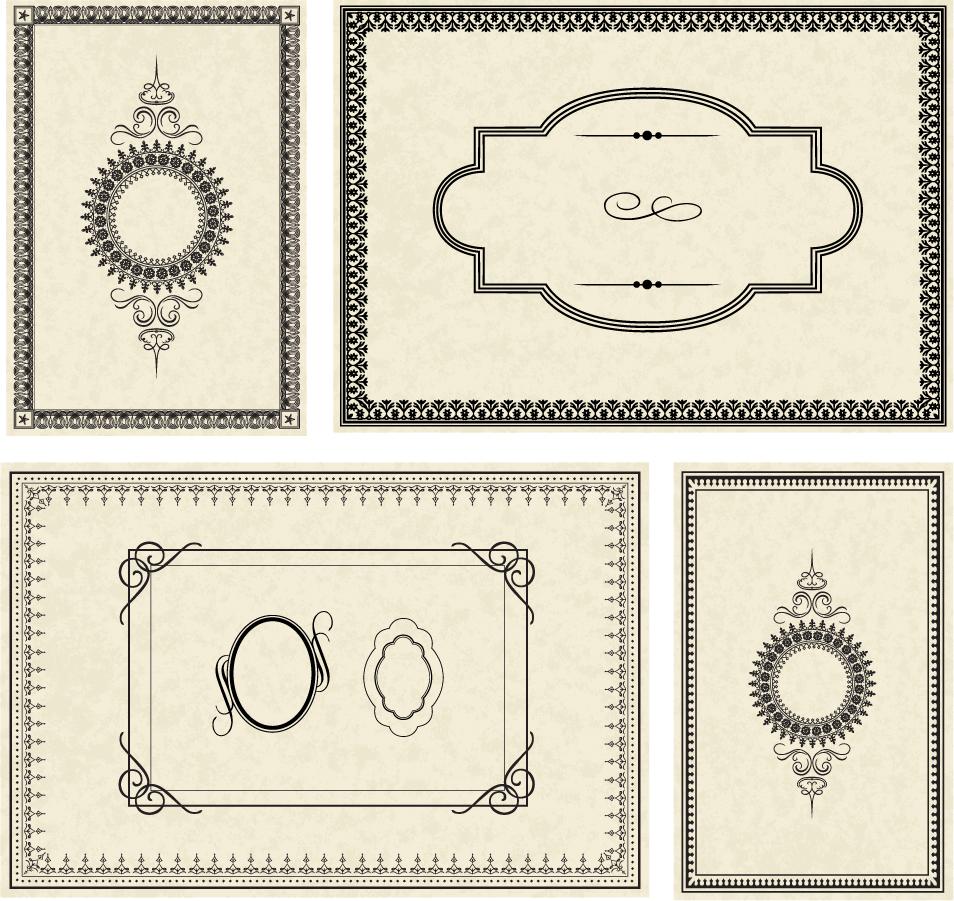 シンプルなフレーム edge texture simple frame イラスト素材 | ai eps