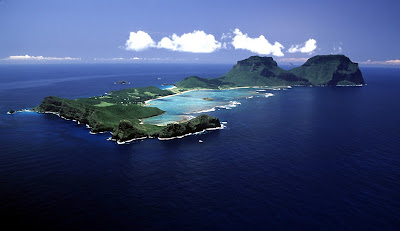 Aerial view- Lord Howe Island