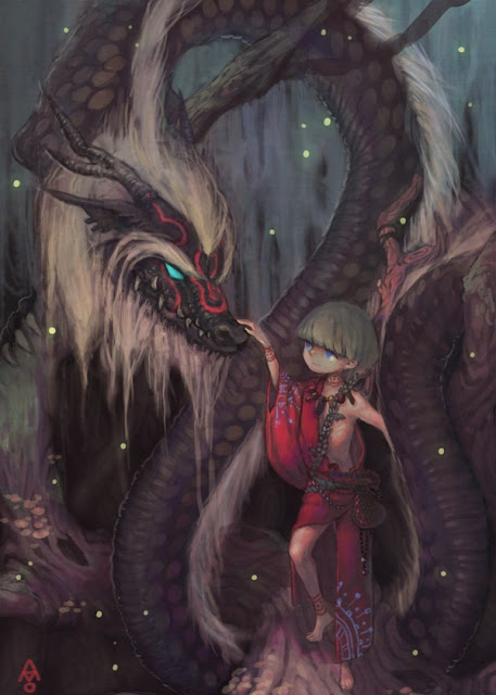 red mage,black dragon,fantasy dragon