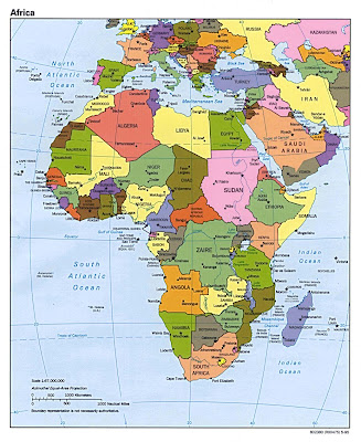 Africa Political map from Atlas