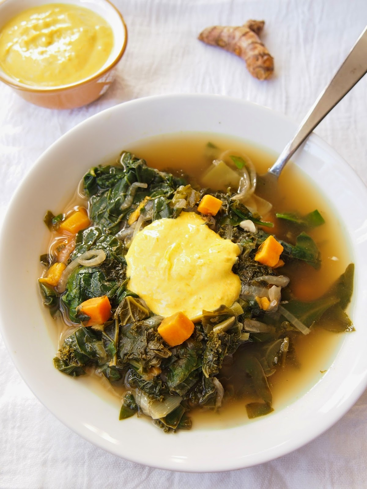 Immune Support Soup with Kale and Spinach