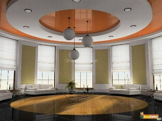 Living Room Ceiling Design 530 x 398