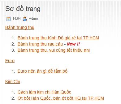 Tạo sitemap cho người dùng trong Blogspot