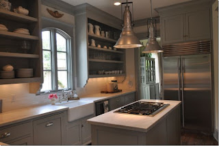 gray dark kitchen cabinets