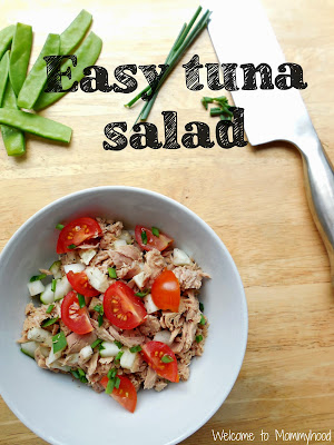 Easy tuna salad: Whole 30 approved {Welcome to Mommyhood} #EasyTunaSalad, #Whole30, #Paleo
