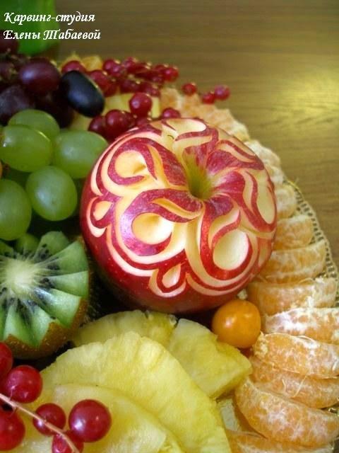 украшение фруктового блюда