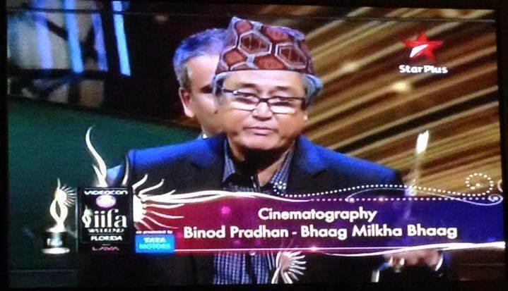 Bollywood cinematographer Binod Pradhan a Gorkhali legend Wears Dhaka topi in IIFA