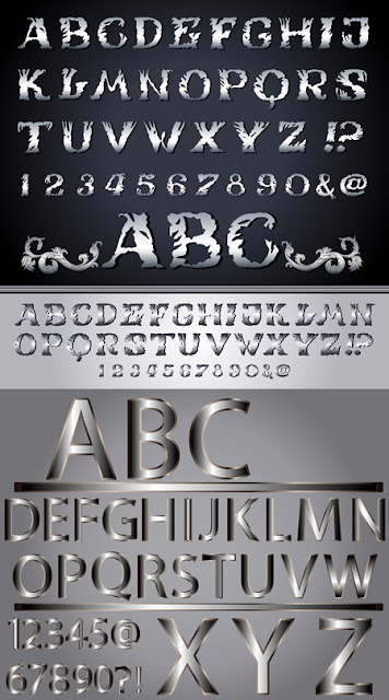 Metallic Alphabet
