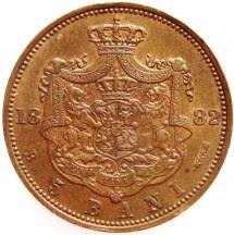 moneda 5 bani 1882
