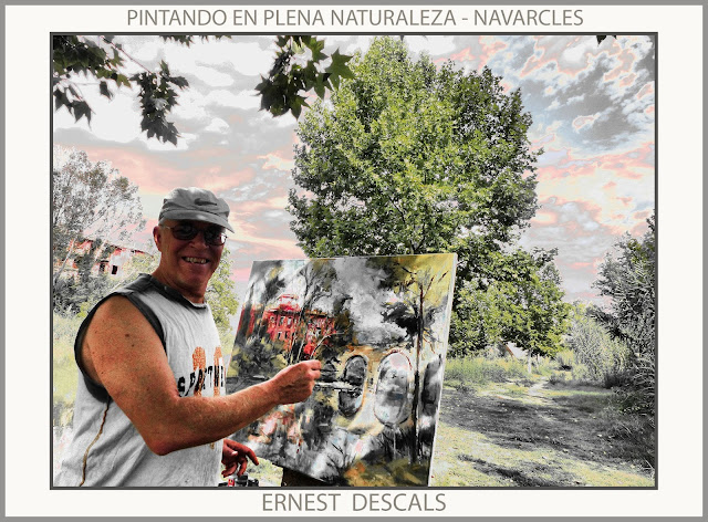 NAVARCLES-PINTURA-FABRICA VERMELLA-PONT-PAISATGES-FOTOS-NATURA-PINTOR-ERNEST DESCALS-