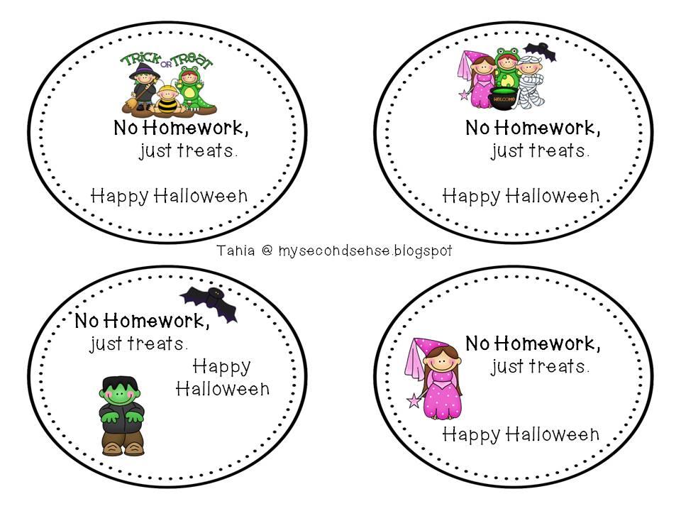 Halloween homework pass