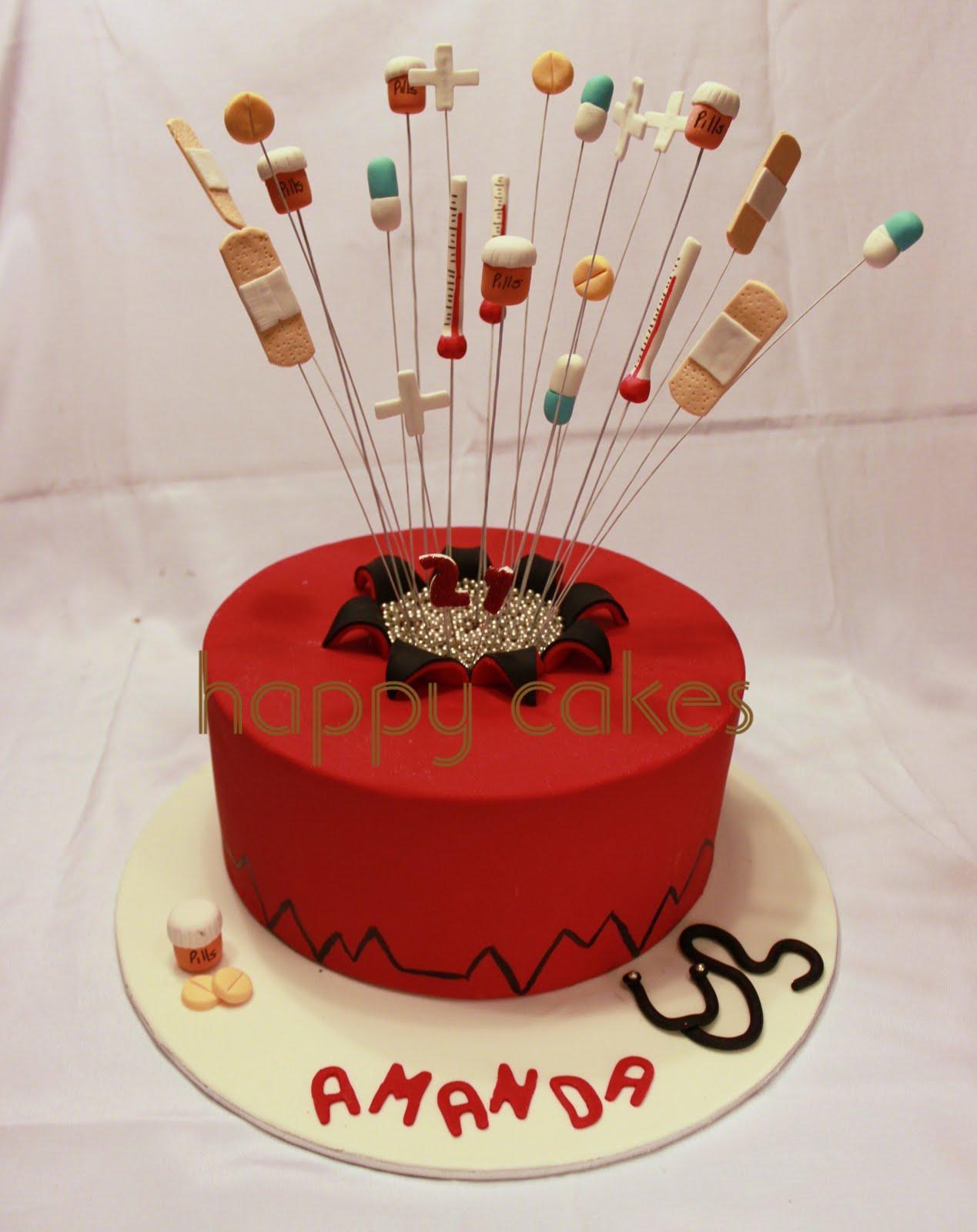 Happy Cakes Exploding Medical Cake