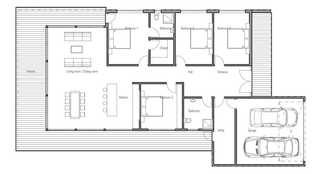Contemporary House Plans Contemporary Home Ch170