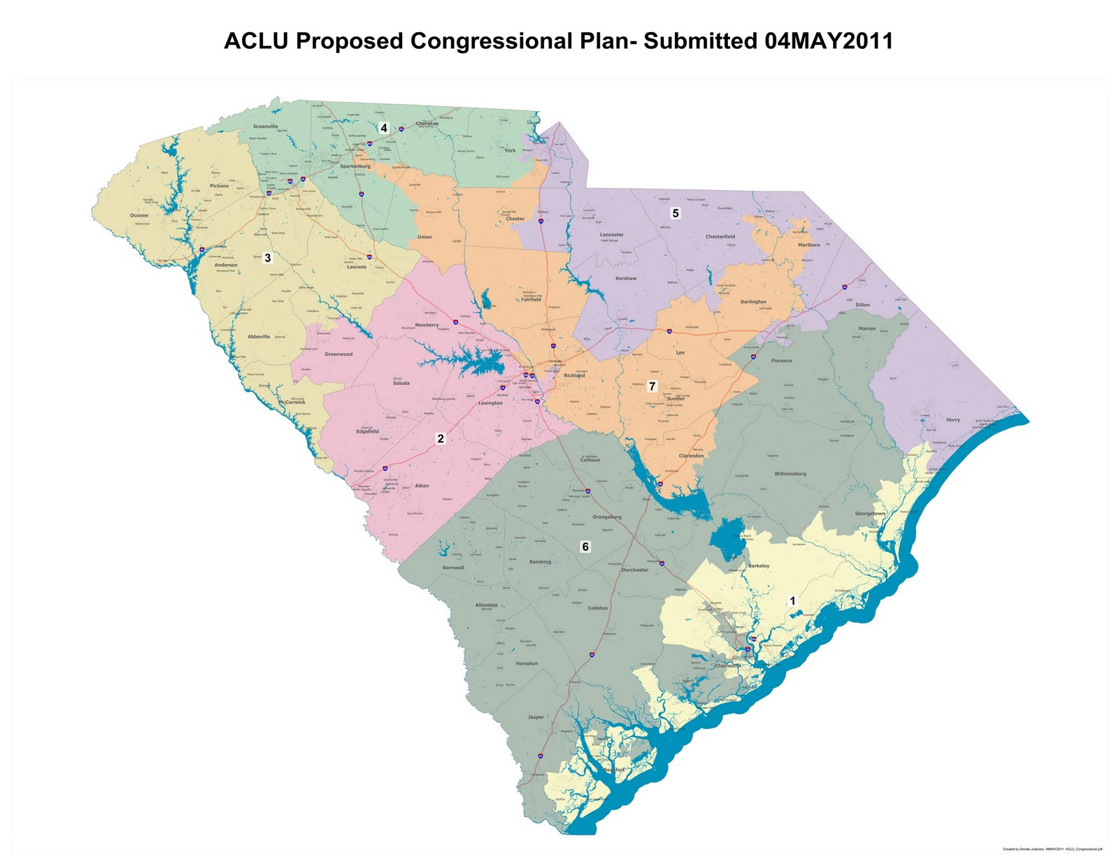 one congressional plan was submitted jointly by congressmen mick mulvaney and joe wilson while the aclu presented proposals for congressional and