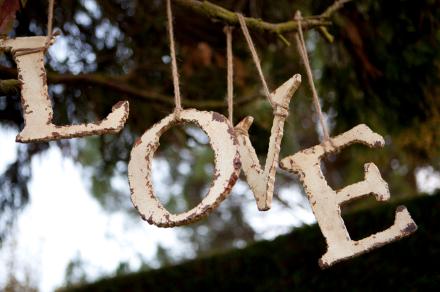 Letras love para decorar tu boda