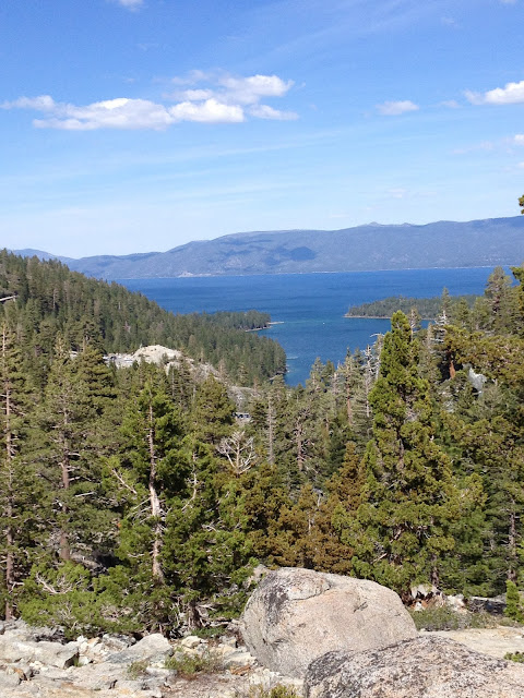 view of Lake Tahoe from Eagle Lake Trail