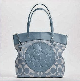 COACH LAURA SIGNATURE TOTE F18335