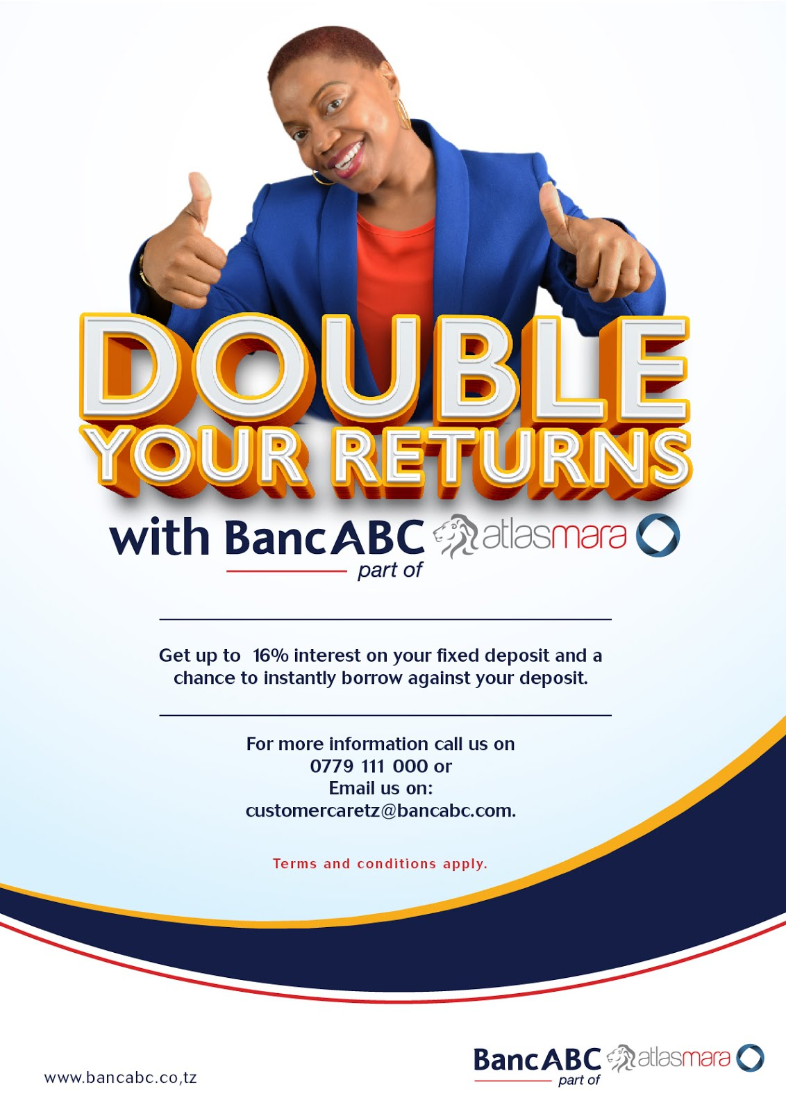 DOUBLE YOUR RETURNS WITH BANCABC