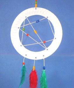 paper plate dream catcher instructions