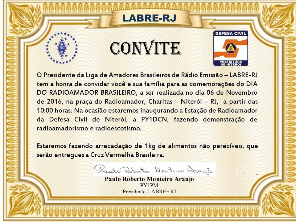 CONVITE AOS RADIOAMADORES CARIOCA