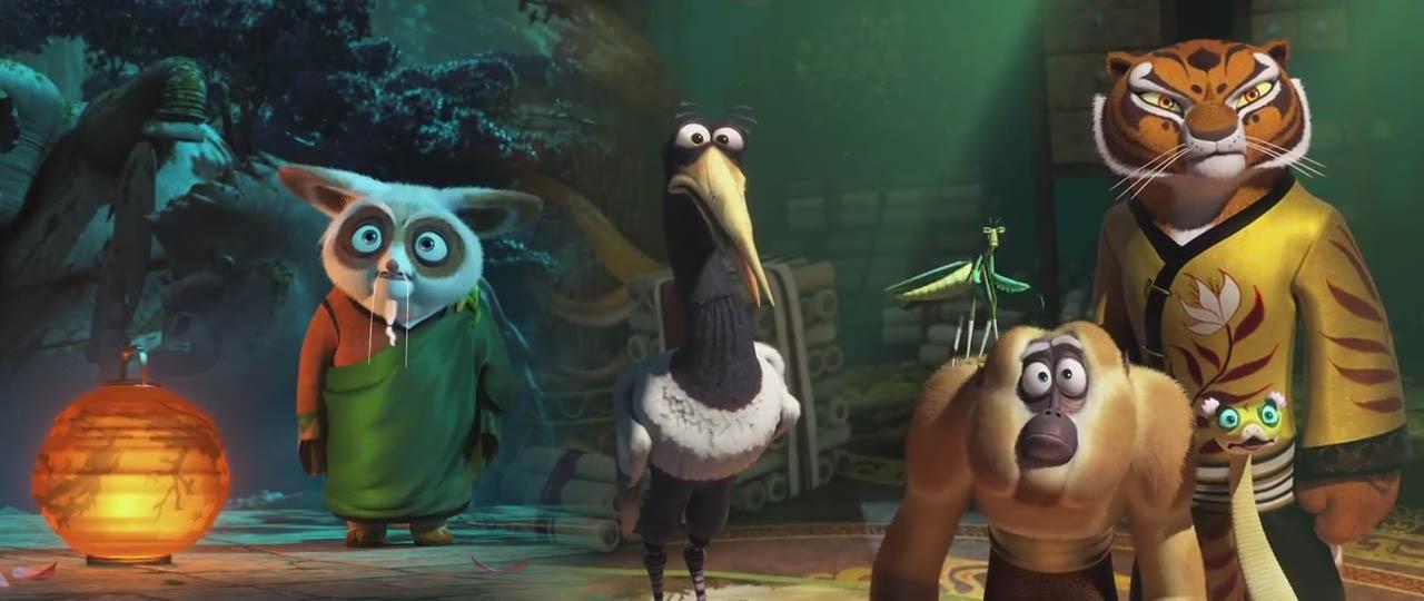 Kung Fu Panda 3 Chinese Movie Trailer Master Shifu and the Legendary Five Tigress, Mantis, Monkey, Crane, Viper