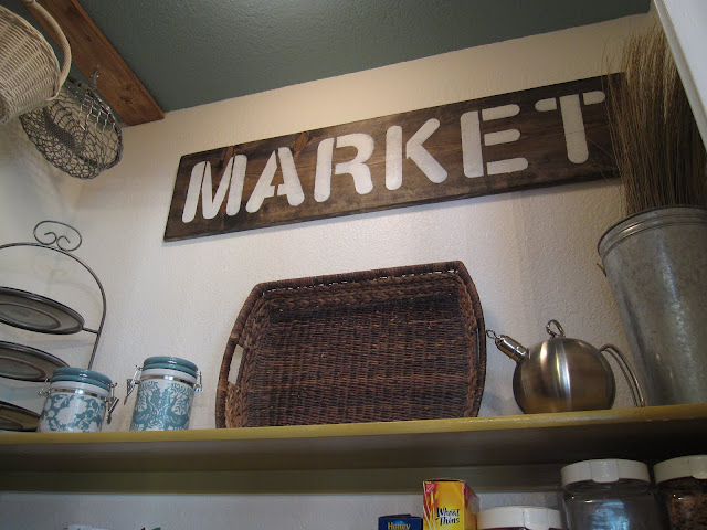 handmade rustic sign kitchen pantry market