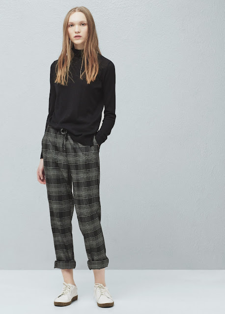 mango grey check trousers, grey check peg trousers,