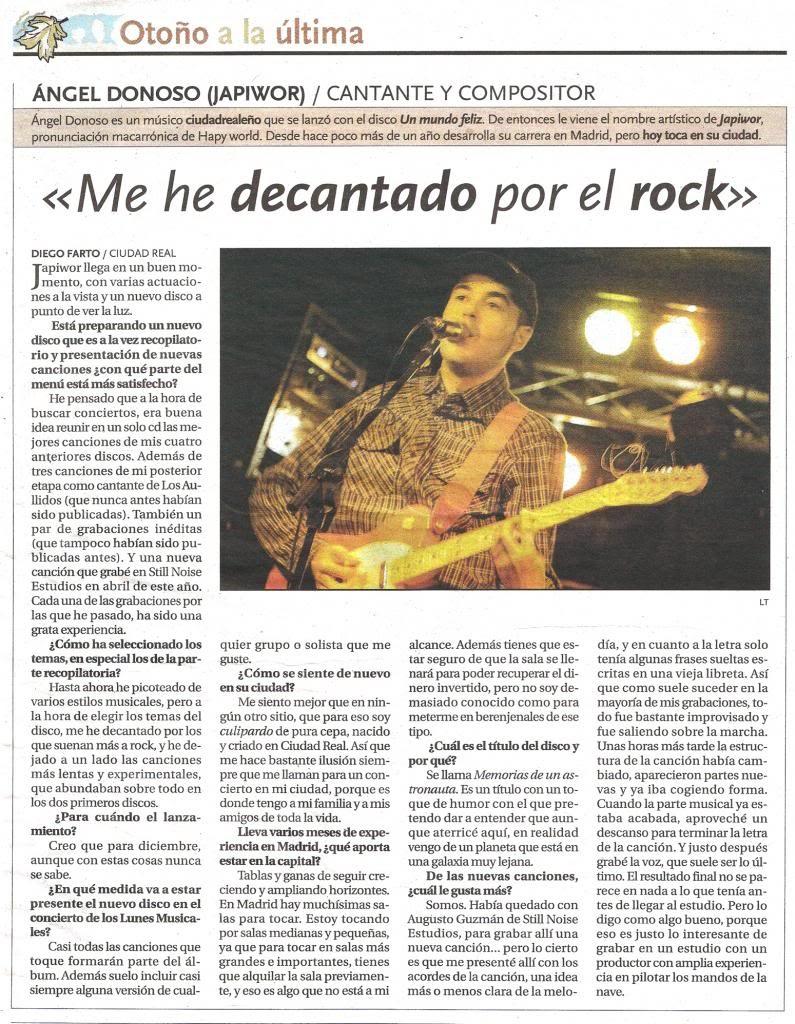 29/10/2012 LA TRIBUNA DE CIUDAD REAL