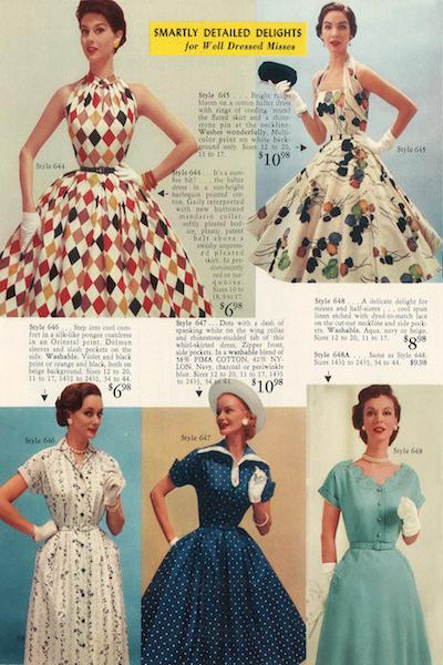 Fifties Fashion Catalogs Women